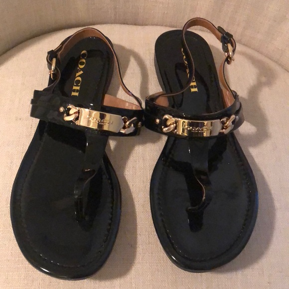 363689940f64 Coach Shoes - Coach Catherine Black Sandal with Gold NWOT